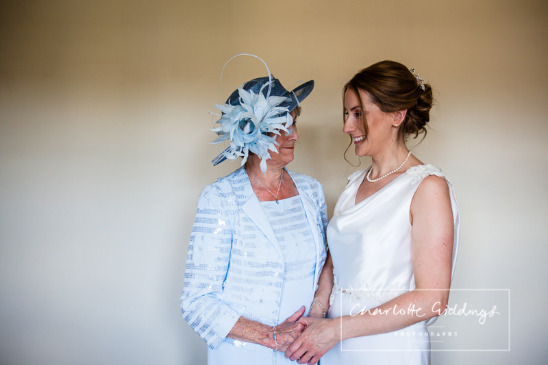 special moment between bride and mother of the bride