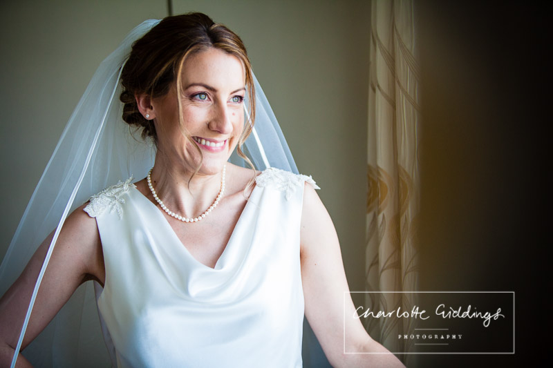 portrait of a fully dressed bride