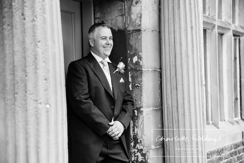 groom portrait at soulton hall