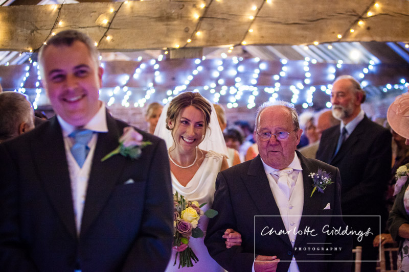 walking down the aisle in the tallet, soulton court, soulton hall