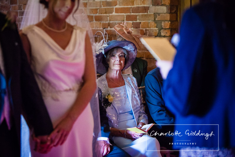mother of the bride in the ceremony soulton hall