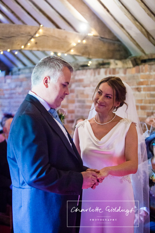 glace while exchanging rings at soulton hall