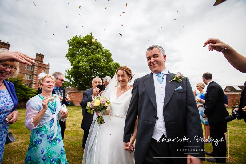 soulton hall wedding photographer capturing confetti