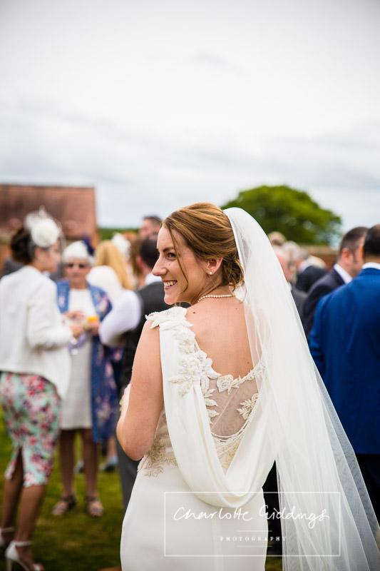 stunning bride at soulton hall shropshire