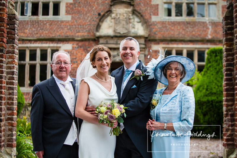 formal family photo at soulton hall shropshire