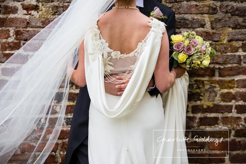detail shot of bride at soulton hall