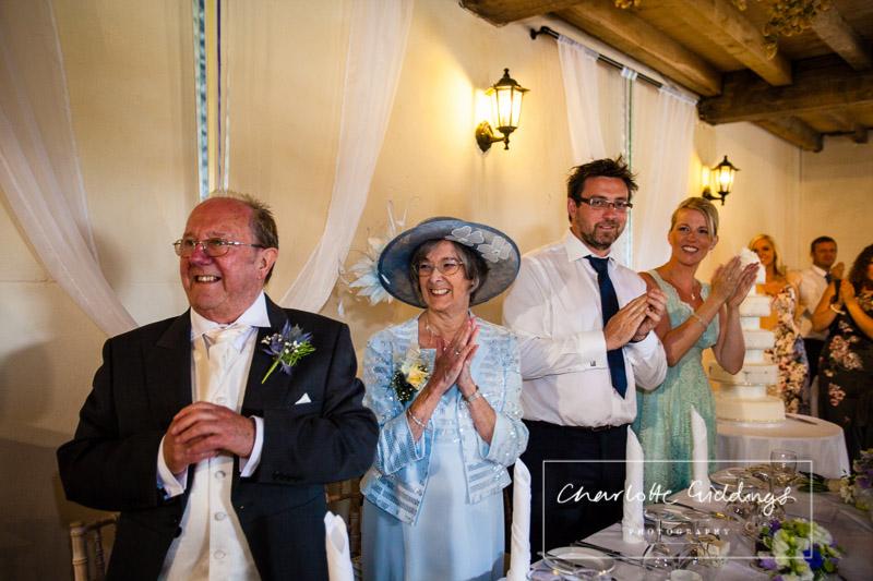 couple enter to soulton hall reception