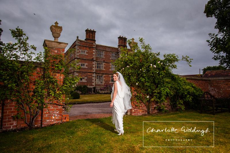 bride and soulton hall portrait
