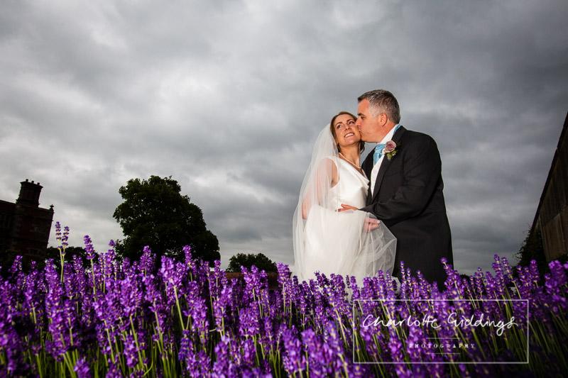 soulton hall wedding photographer lavender, walled garden