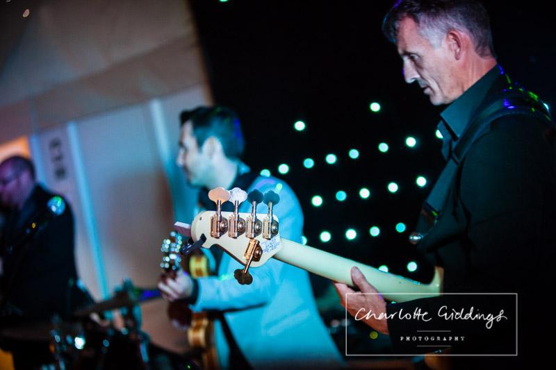 close up shot of guitar at combermere abbey wedding venue shropshire