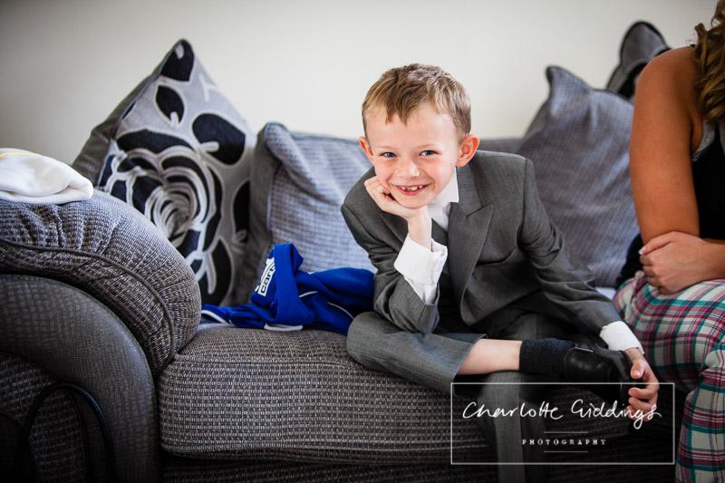 cheeky pageboy portrait