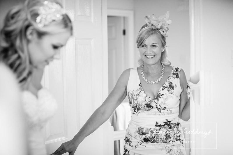 mother of the bride looking at her daughter
