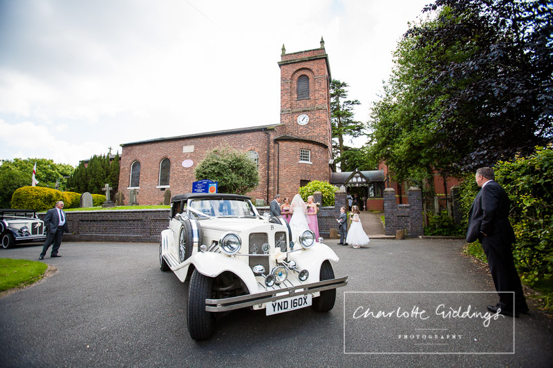 bride arrival at st. mary's church wistaton
