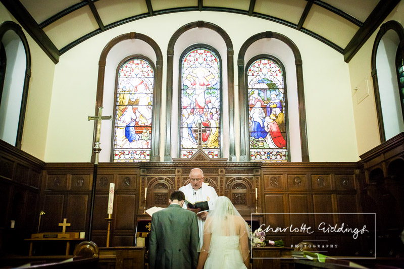 praying in st. marys church, wistaton