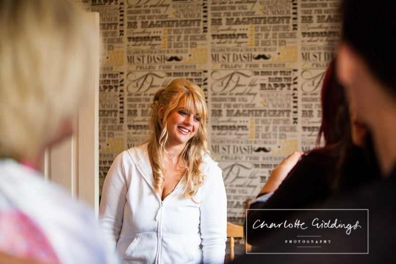 photo of bride in natural light relaxed in the morning - charlotte giddings photography