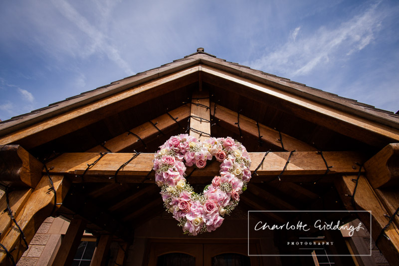 love heart shaped flowers at heaton house farm wedding by natalies florist