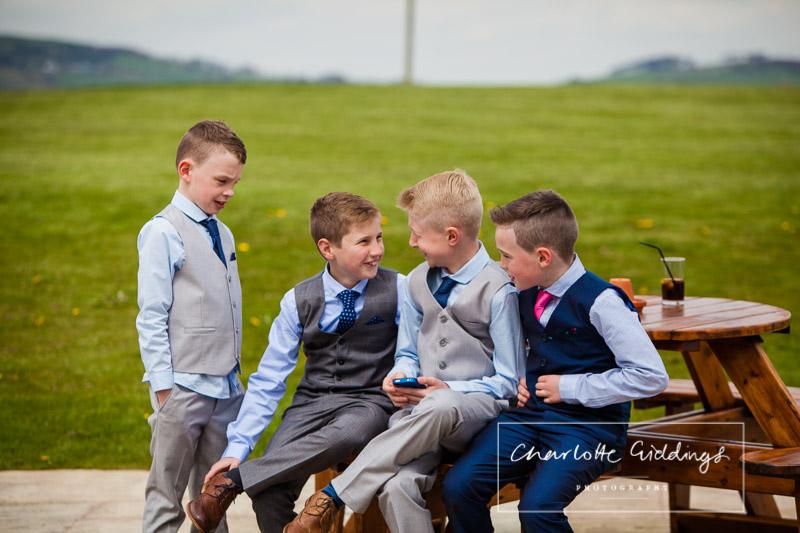 children guests at heaton house farm wedding venue