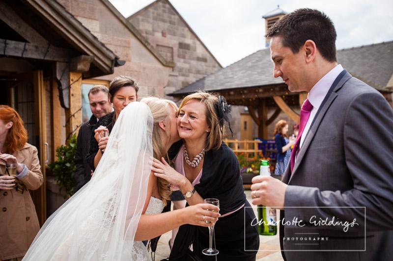 guests congratulating the bride at heaton house wedding