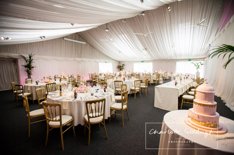 wedding breakfast all set up with birdcage cake by cakes by beth - charlotte giddings photography