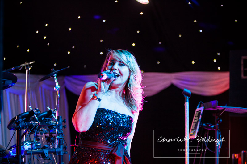 singer performing first dance song at wedding venue heaton house farm
