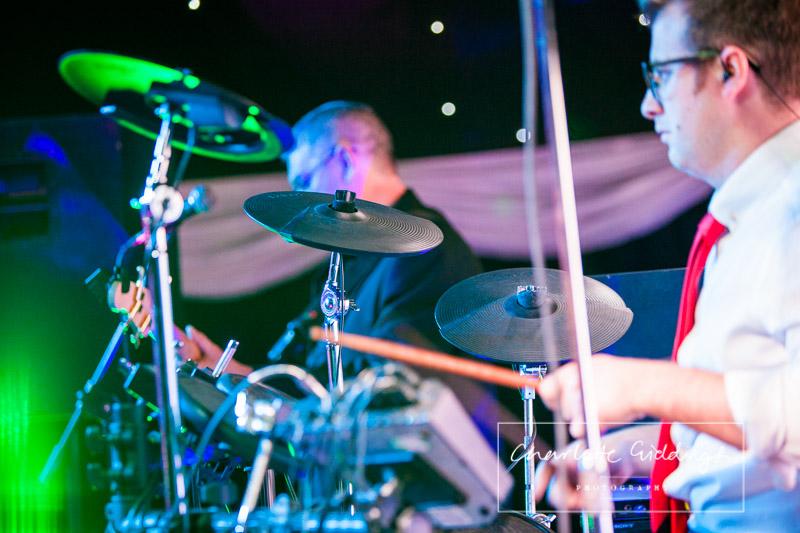 drum player at heaton house farm wedding - charlotte giddings photography