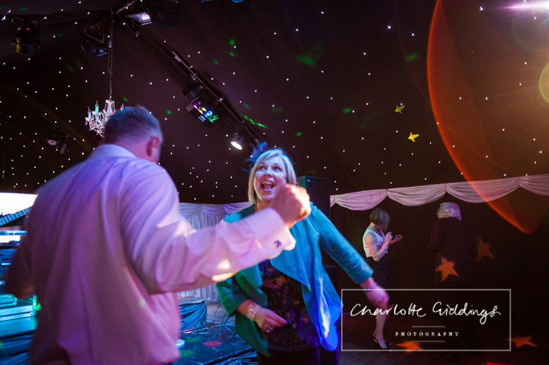 female guest dancing at evening do at staffordshire wedding venue - Charlotte giddings photographer