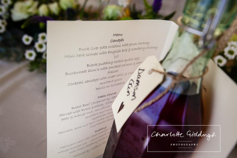 menu at marquee wedding shropshire - shropshire wedding photographer