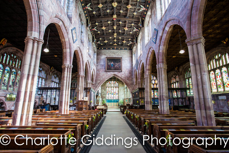 st oswalds church wedding photographer - interior photo of the church