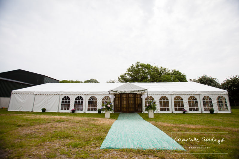 view of marquee, marquee wedding in bronington, wales