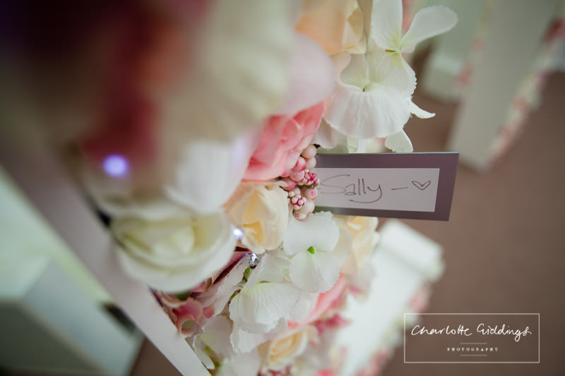 place setting at marquee wedding - shropshire wedding photographer