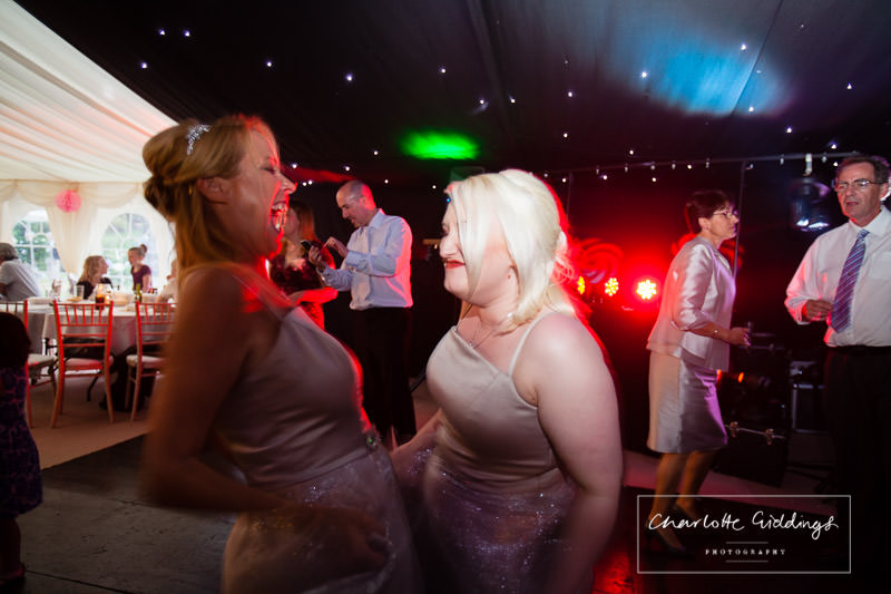 bridesmaids dancing to the evening entertainment 206