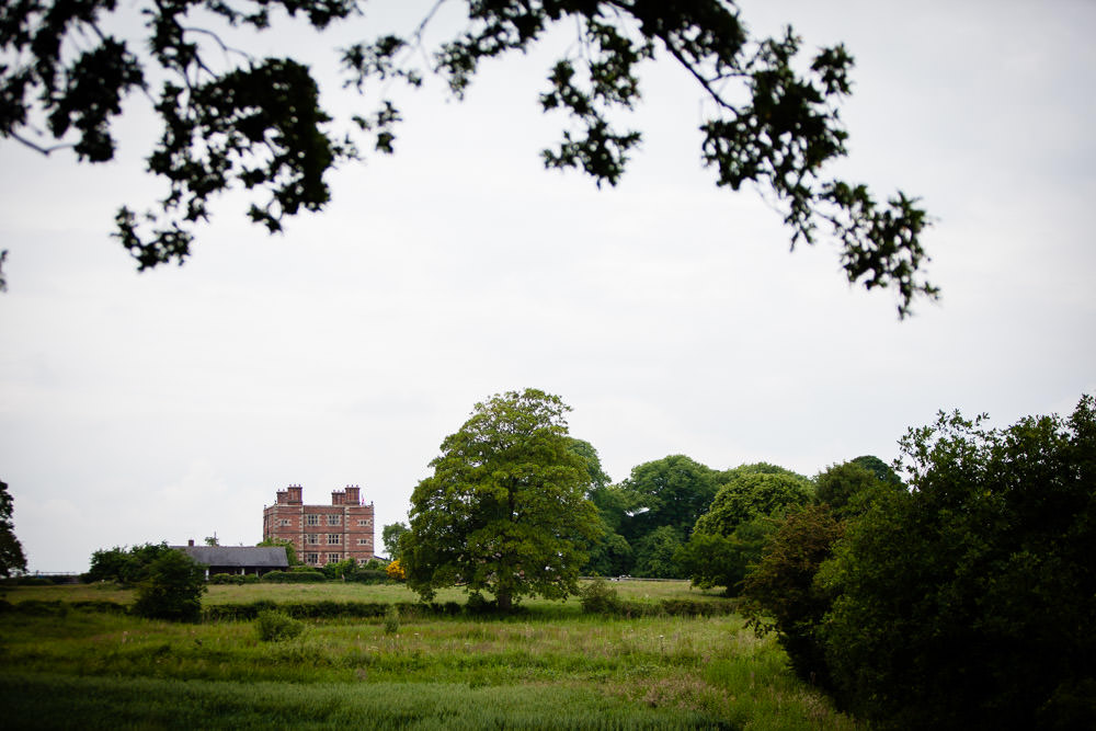 photograph of soulton hall in the distance - shropshire wedding photographer