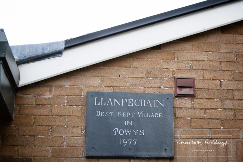 llanfechain plaque outside the llanfechain memorial hall