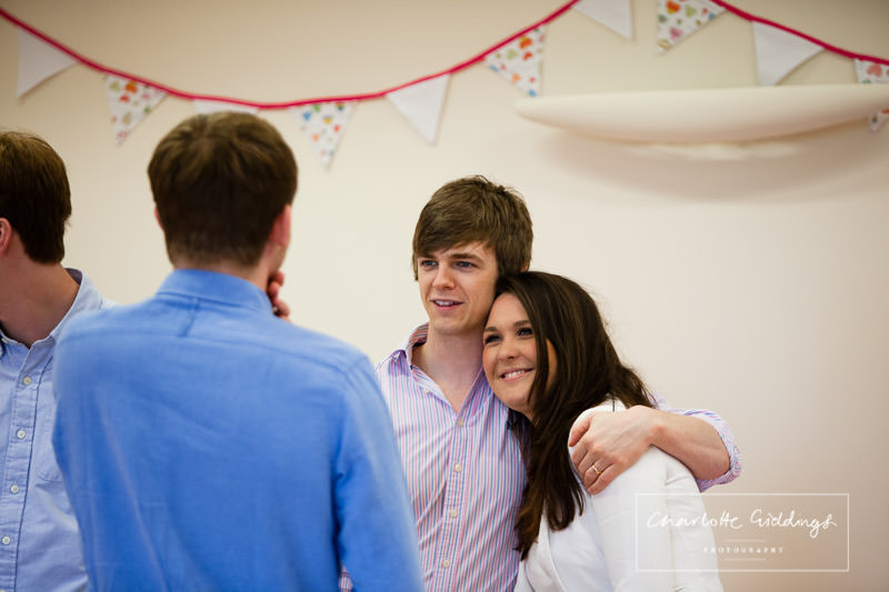 boy and girl cuddling at 80th birthday party at llanfechain hall - mid wales photographer