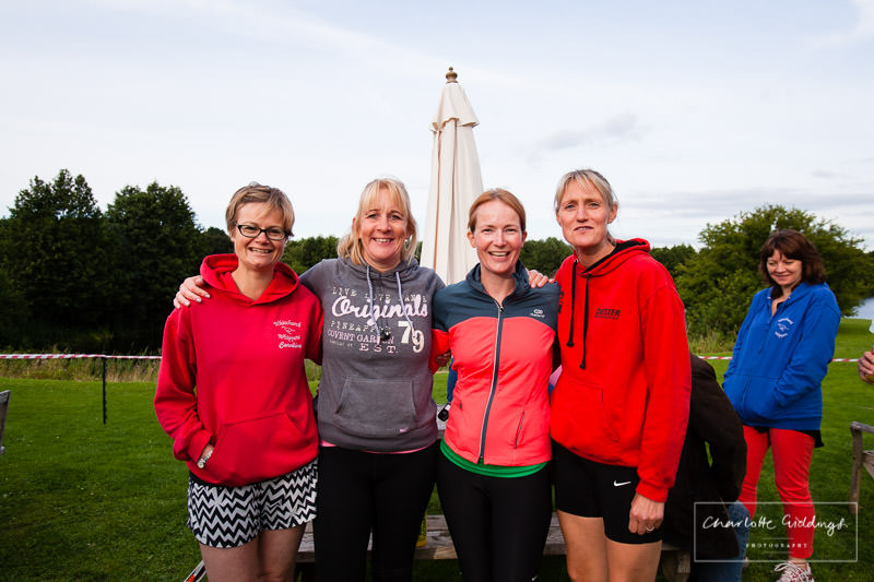 local whitchurhc ladies team photo before the event at dearnford lake - shropshire event photographer