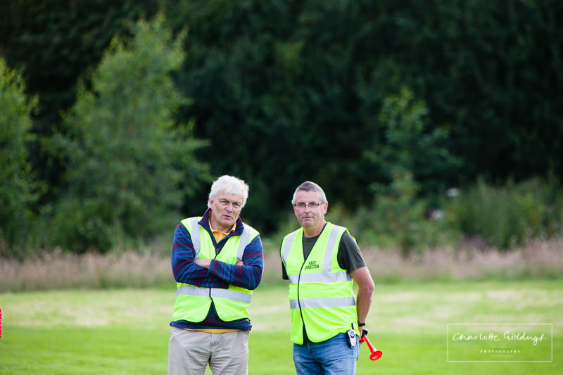 whitchurch whippets organiser and supporter candid shot before the deanford lake event begins