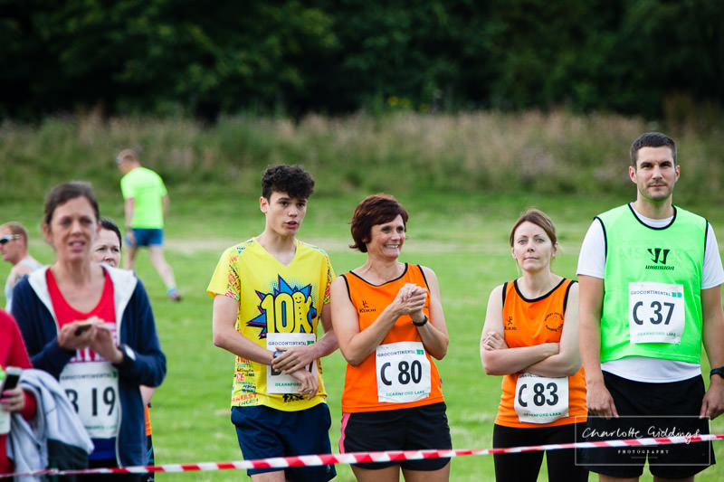 runners watching the event before its there turn to run, shropshire running event