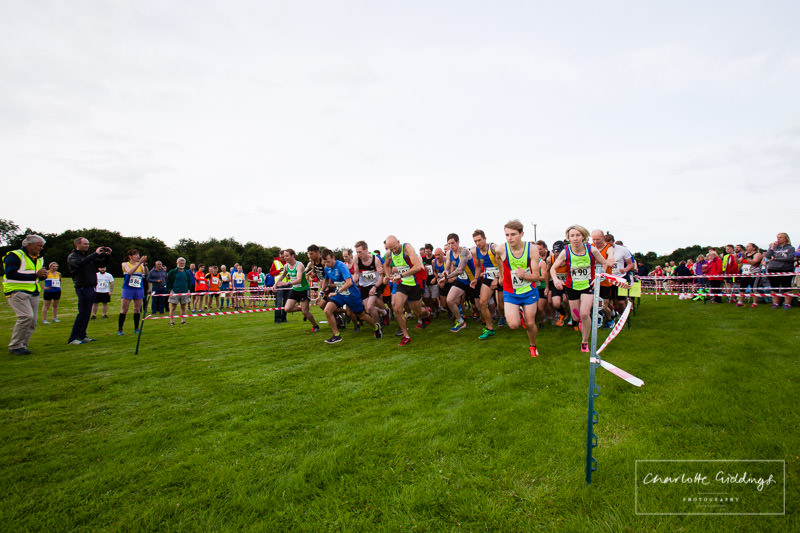 the runners just starting off on the whistle at grocontinental dearnford lake event