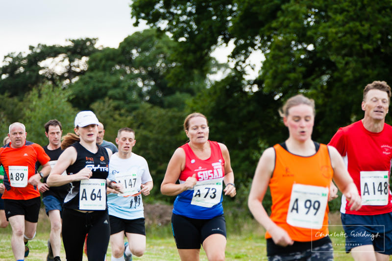 mixture of club runners at the grocontinental running event 2016