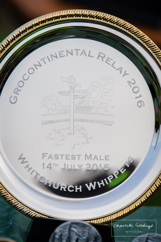 close up of the engraving on the trophy plates presented by the whitchurch whippets