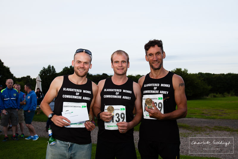 community team winners - combermere abbey  - whitchurch shropshire running event