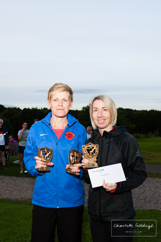 fastest ladies team with trophies at dearnford lake relay event 2016