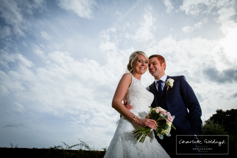 elinchrom lighting on the bride and groom