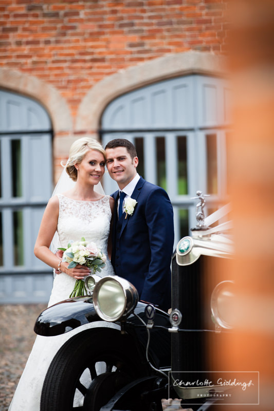 bride and groom at cottages combermere abbey