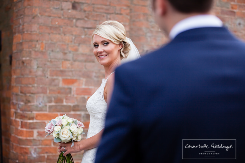 bride looking at her husband
