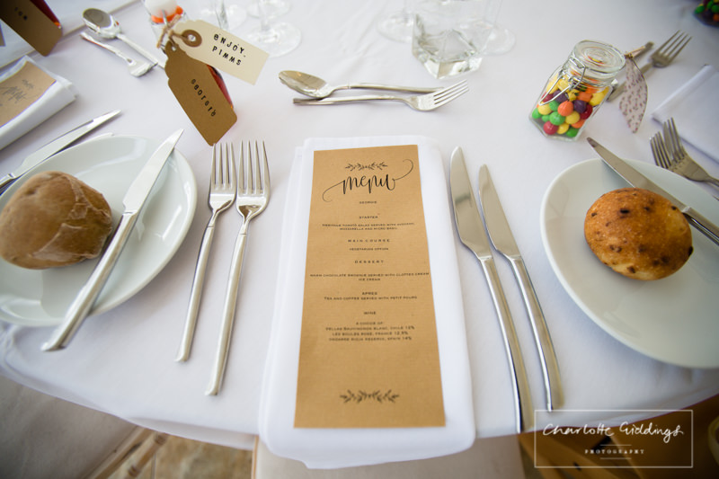 menu at combermere abbey