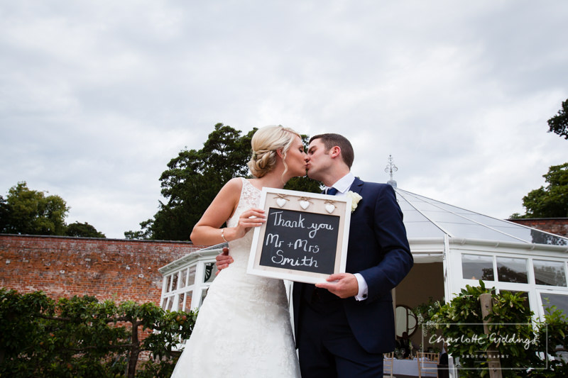 thank you from the happy couple combermere abbey