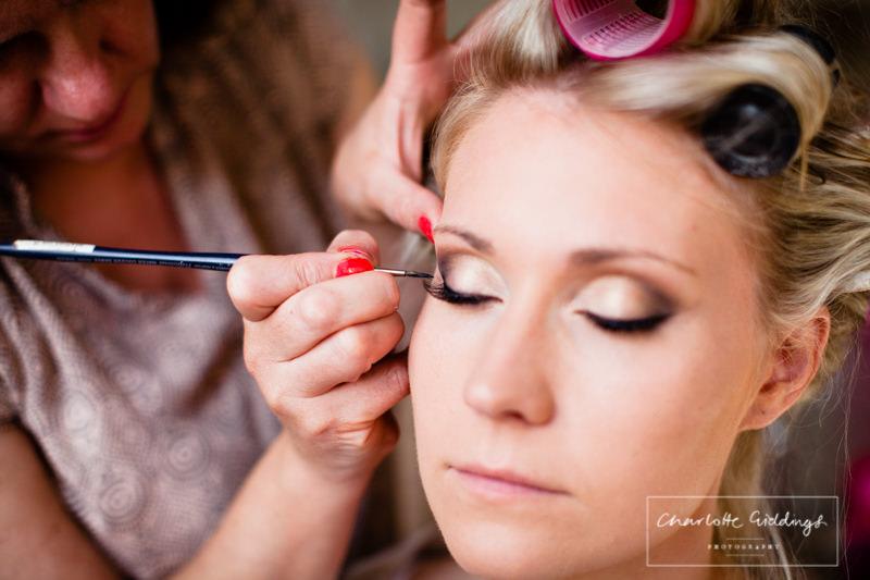 bride makeup at combermere abbey nina wren