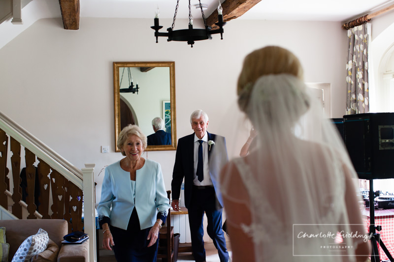 nan and grandad see bride for the first time