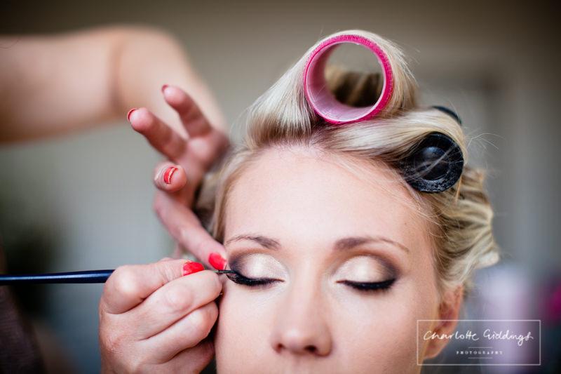 alternative bride make up shot